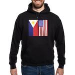 Philippine Flag & US Flag Hoodie (dark)
