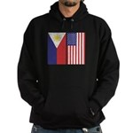 Philippine Flag & US Flag Hoodie (dark)