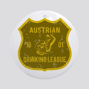 Austrian Drinking League Ornament (Round)