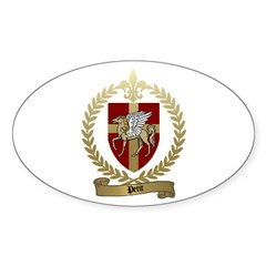 PETIT Family Crest Oval Decal