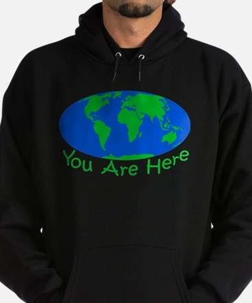 Earth Day You Are Here Hoodie (dark)