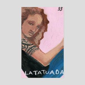 Loteria Series 08: La Tatuada Rectangle Sticker