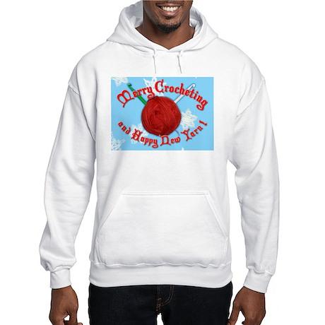 Merry Crocheting Hooded Sweatshirt