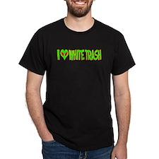 I Love-Alien White Trash Dark T-Shirt