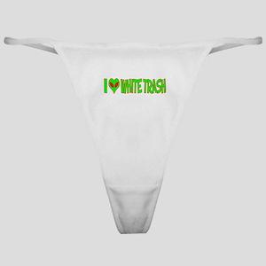 I Love-Alien White Trash Classic Thong