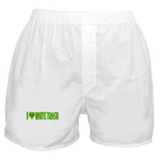 I Love-Alien White Trash Boxer Shorts