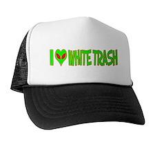 I Love-Alien White Trash Trucker Hat