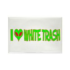I Love-Alien White Trash Rectangle Magnet