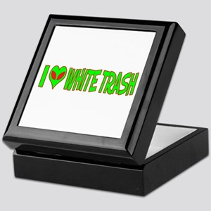 I Love-Alien White Trash Keepsake Box