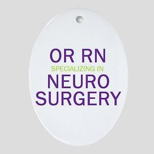 OR RN Neuro Oval Ornament