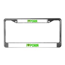 I Love-Alien Porn License Plate Frame