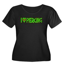 I Love-Alien Piercing Women's Plus Size Scoop Neck