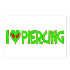 I Love-Alien Piercing Postcards (Package of 8)