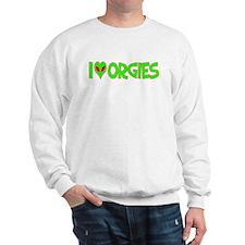 I Love-Alien Orgies Sweatshirt