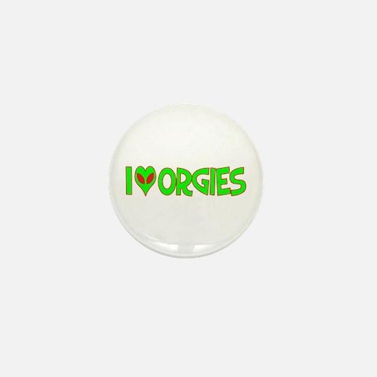 I Love-Alien Orgies Mini Button