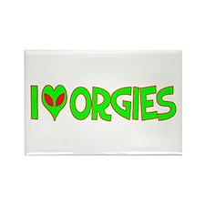 I Love-Alien Orgies Rectangle Magnet
