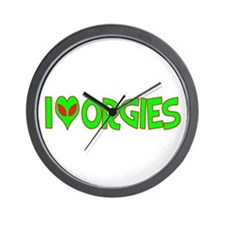 I Love-Alien Orgies Wall Clock