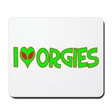 I Love-Alien Orgies Mousepad