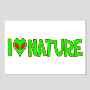 I Love-Alien Nature Postcards (Package of 8)