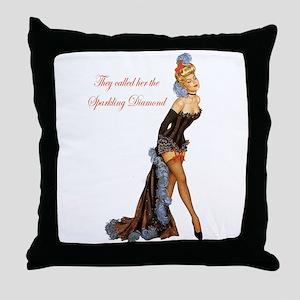 Sparkling Diamond Throw Pillow