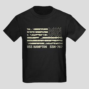 USS Hampton Kids Dark T-Shirt