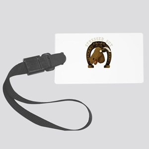 Horse Stressed Out Large Luggage Tag