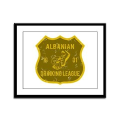 Albanian Drinking League Framed Panel Print