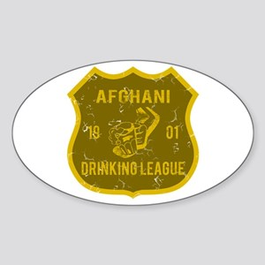 Afghani Drinking League Oval Sticker
