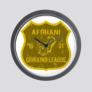 Afghani Drinking League Wall Clock