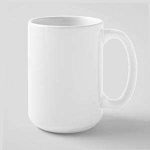 BLACK LAB LIFE IS RUFF Large Mug