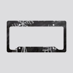 blackboard machinery windmill License Plate Holder