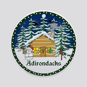 Adirondack Christmas Ornament (Round)