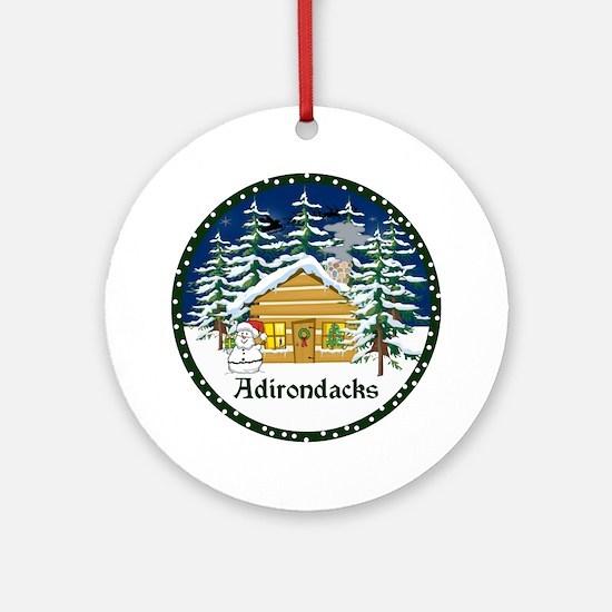 Adirondack Christmas Ornament (Round)
