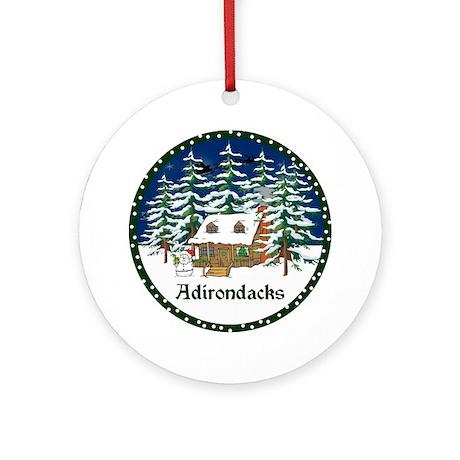 An Adirondack Christmas Ornament (Round)