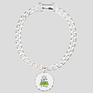 Mahjong Stick Figure Charm Bracelet, One Charm