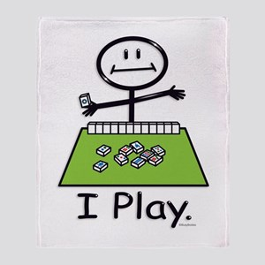 Mahjong Stick Figure Throw Blanket