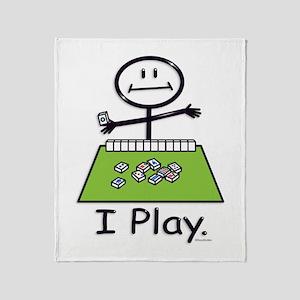 Mahjong Stick Figure Throw Blanket