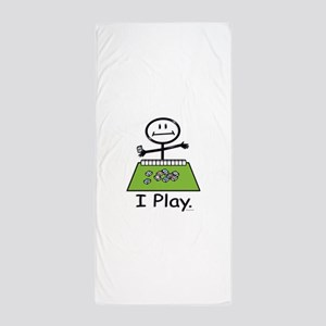 Mahjong Stick Figure Beach Towel