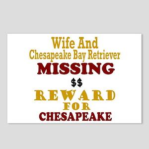 Wife & Chesapeake Bay Retriever Missing Postcards