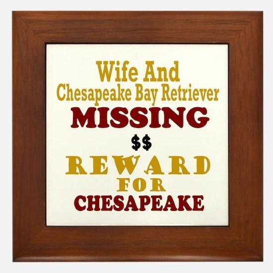 Wife & Chesapeake Bay Retriever Missing Framed Til