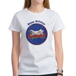 Fuzzy Lop Holiday Women's T-Shirt