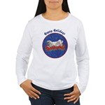 Fuzzy Lop Holiday Women's Long Sleeve T-Shirt