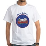 Fuzzy Lop Holiday White T-Shirt