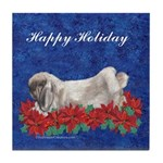 Fuzzy Lop Holiday Tile Coaster