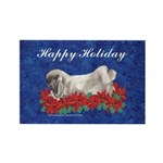 Fuzzy Lop Holiday Rectangle Magnet