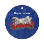 Fuzzy Lop Holiday Ornament (Round)