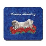 Fuzzy Lop Christmas Holiday Mousepad