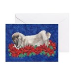 Fuzzy Lop Rabbit Christmas Greeting Cards (10pk)