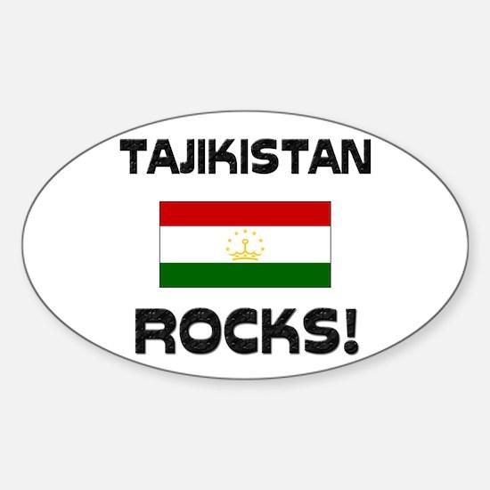 Tajikistan Rocks! Oval Decal