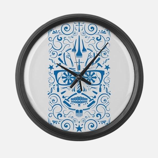 barber boi Large Wall Clock